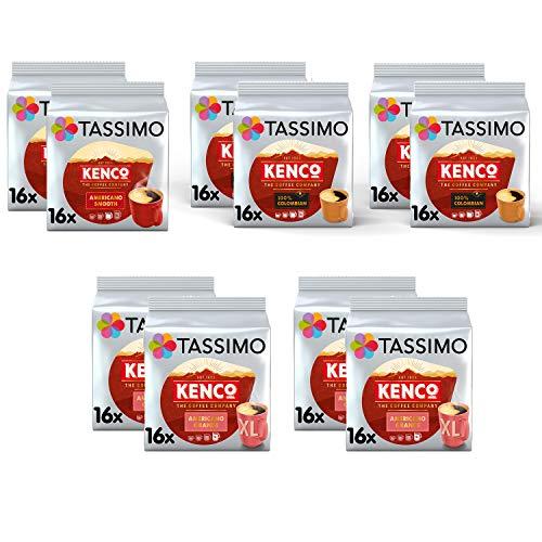 Tassimo Coffee Kenco Bundle - Kenco Americano Smooth / Americano Grande / Pure Colombian Pods - 10 paquetes (160 portions)