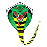 Large Cobra Kite for Adults Kids Boys with Super Long Tail (49 ft), Extra Easy to fly, Best Huge Kites for the Beach/Kite Party/Field/Park, It Will Dominate the Sky!
