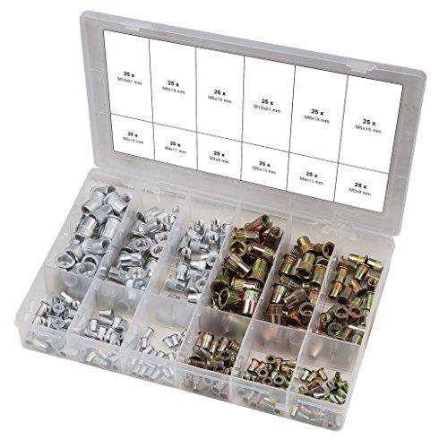 KS Tools 9700630 Assortiment Rivets filetés, acier/aluminium