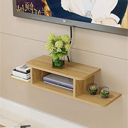 DGDF Decodificador de TV Caja de almacenamiento de pared inalámbrica Router WiFi Estante de almacenamiento decorativo soporte de pared para sala de estar (color: color de registro, tamaño: 60 cm)