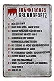 Blechschild Fränkisches Grundgesetz - Metallschild