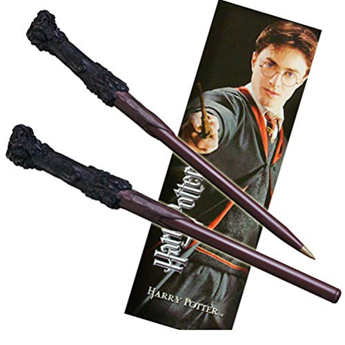 The Noble Collection Ensemble Stylo Baguette et Marque-Pages Harry Potter.