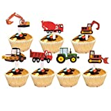 Construction Truck Vehicle Car Cupcake Toppers Dump Truck Bulldozer Tractor Excavator Party Cake Decorations Construction Party Decorations for Kids,Baby ,Girls ,Boys Baby Shower ,Birthday Party Supplies Favor 21pcs