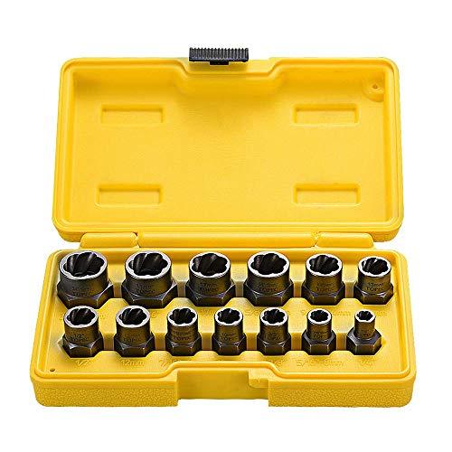 Juego de 13 piezas de extractor de tuercas dañados & extraer tornillos, juego...