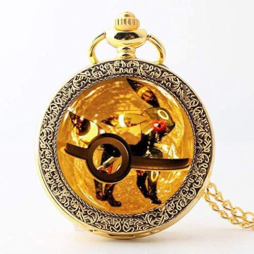 Reloj Pokemon Reloj de Bolsillo de Cuarzo para Hombres y Mujeres, Colgante...