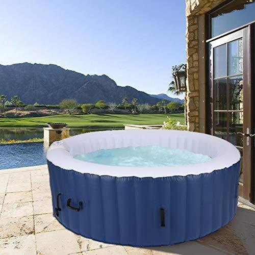 casulo Spa Whirlpool aufblasbar Outdoor Aufblasbare Pools für 4 Personen 180cm, Automatisch aufblasbar, 120 Luftdüsen, Fassungsvermögen 800 L, Mit Bodenplane, 4 x Filterpatronen und Abdeckung