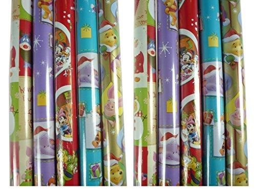 5 Rollen DISNEY Weihnachts Geschenkpapier, 200 x 70 cm, Weihnachten