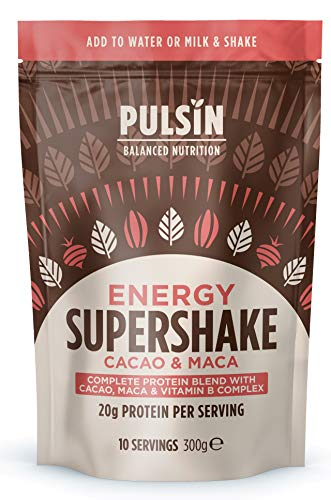 Pulsin Cacao and Maca Energy Protein Super Shake 300g