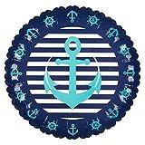 Anchor Paper Plates Nautical Birthday Party Supplies Navy Disposable Tableware Anchor Table Decor Nautical Baby Shower Sailor Serveware Beach Wedding Party Supplies Nautical Decorations Summer Wedding