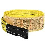 Eslinga de elevación, correa de elevación de 3 metros x 75 mm, eslinga de cinta de 30 to...