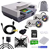GeeekPi RETROFLAG NESPi 4 Case Kit, Raspberry Pi 4 Case with SSD CASE, HDMI Splitter Switch & Cooling Fan & Heatsinks & USB Wired Game Controllers for Raspberry Pi 4 Model B