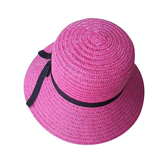 2019 Nuovo Le Donne Si inchinano Leggero Visiera di Protezione del Cappello di Paglia Traspirante e Leggera By WUDUBE