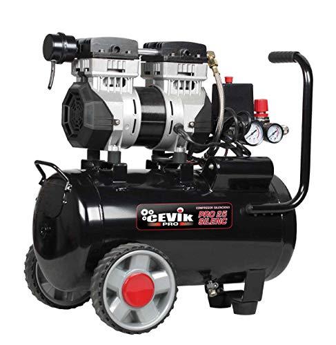 Cevik CA-PRO25SILENC Compresor silencioso 24 litros 1.5 HP