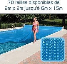 Linxor Cubierta a burbujas a medida para piscina 300 micras/70 tamaños disponibles/Norma CE