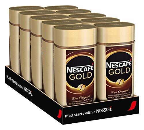NESCAFÉ Gold Original, löslicher Kaffee, 10er Pack (10 x 100 g)