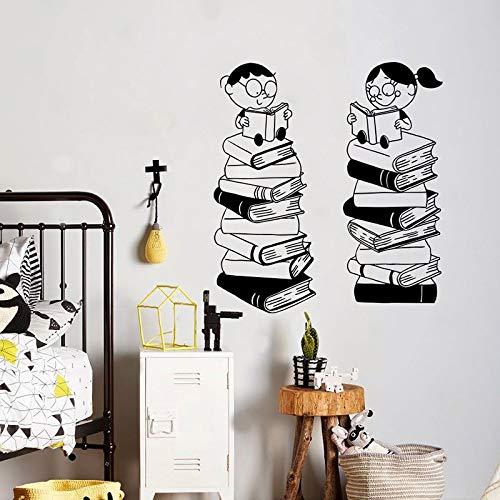 yaofale Klassenzimmer Buch Wandtattoo Vinyl Aufkleber Bibliothek Schule Klassenzimmer Kunst Wohnzimmer Schlafzimmer Kinder Dekoration Wandbild Dekoration