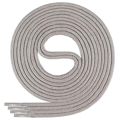 Di Ficchiano-SW-03-light.grey-120 gewachste runde Schnürsenkel, Schuband, Laces, Durchmesser 2-4 mm für Businessschuhe, Anzugschuhe und Lederschuhe