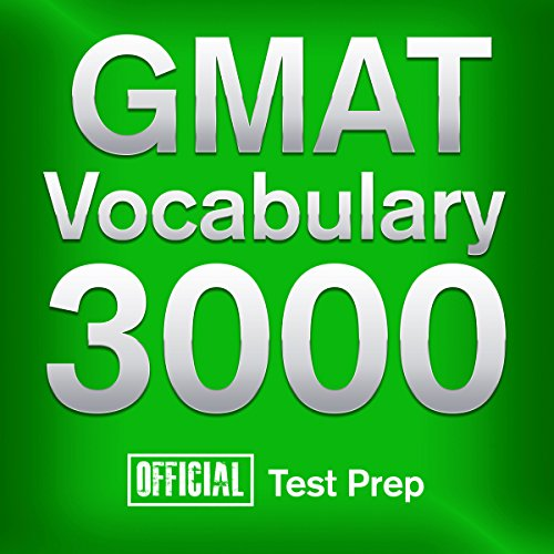 Official GMAT Vocabulary 3000 audiobook cover art