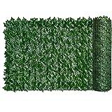 Ohomr Seto Artificial Hiedra Hoja Cerca de la Pared de Pantalla Planta Falsa contexto de la Hierba Decorativa para el Contacto protección de la casa Balcón Jardín 0.5x3m