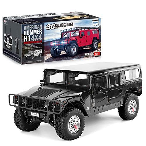 LMIITAM 1/10 Ferngesteuertes Auto, HG P415 30KM/H Hummer RC Auto 4WD 2.4G 4X4 Offroad mit Ton und Licht (ohne Akku und Ladegerät)