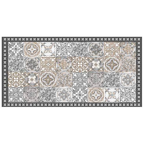 TAPIS RECTANGLE 50 x 100 CM VINYLE ALICANTE NATUREL