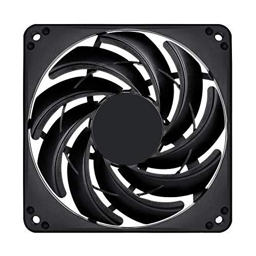 SilverStone SST-FN124B - Ventilador de refrigeración delgado de 120mm para ordenador Serie FN, Baja sonoridad, Alto flujo de aire, negro