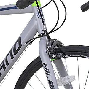 Hiland Road Bike 700C Racing Bicycle with Shimano 14 Speeds Silver 58cm