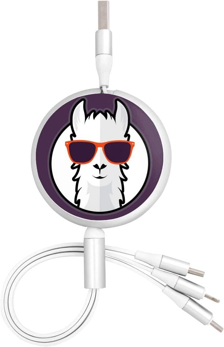 Multi USB Charging Cable Cow Fox 3 in 1 Retractable Charger Adapter Cord Compatible with Phone//Type-C//Micro USB Port Cell Phones Tablets Universal Use