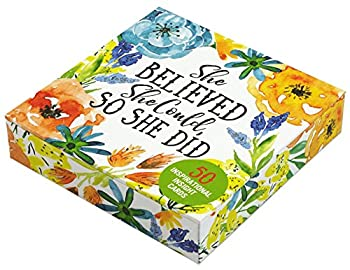 She Believed She Could So She Did Insight Cards  Deck of 50 Empowering Inspirational Cards