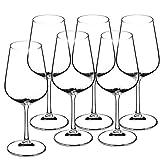 KADAX Rotweingläser aus Kristallglas, 6er Set, 450ml, schöne Weingläser mit hohe Stiel, Rotweinkelche für zu Hause, Party, hochwertige Qualität, breiter Untersetzer - 3