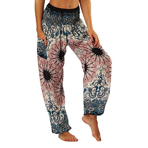 BeautyTop Frauen Yoga Kleidung Sportswear Unregelmäßig Drucken Yoga Pants Lose Bunte Yogahose Atmungsaktive Sportleggings Yoga Hosen Yogahosen für Damen Trainingshose Sport & Wellness Hose
