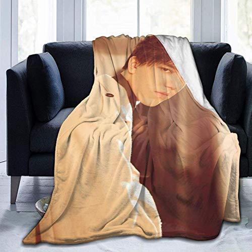 VJSDIUD Dimash Kudaibergen Blankets Manta cálida Impresa en 3D Manta Ligera Ultra Suave y acogedora para sofá (80 'x 60')