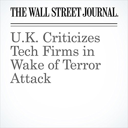 U.K. Criticizes Tech Firms in Wake of Terror Attack copertina