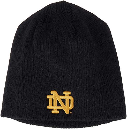 Zephyr Notre Dame Fighting Irish Navy Blue Edge Skull Cap - NCAA Cuffless Winter Knit Beanie Toque Hat