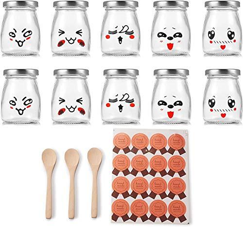 Supremery Vasos para yogur (10 unidades, con tapa de...