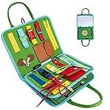 Achiyway Busy Board per Bambini, Tavola attività con Tavolo da Disegno per Bambino, Impara a Vestire e delle Abilità di Vita, Giocattoli Educativi Montessori per Bambini