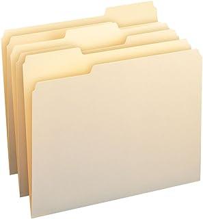 Smead File Folder, 1/3-Cut Tab, Assorted Position, Letter Size, Manila, 200 Per Box (10382)