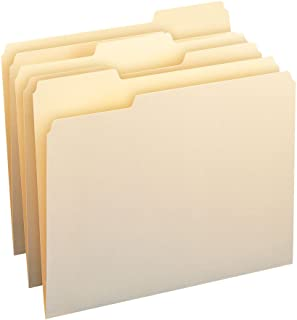 Smead File Folder, 1/3-Cut Tab, Assorted Position, Letter Size, Manila, 200 Per Box (10382)