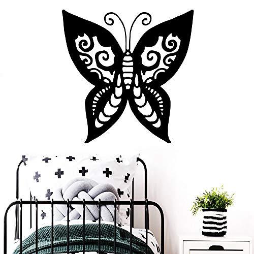 Schmetterling Wandaufkleber Home Decoration Zubehör Wasserdichtes Wandbild schwarz XL 57cm X 57cm