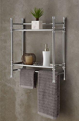 Best Living No Tools Wall Mount/Countertop Shelf, Chrome