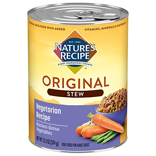 Nature's Recipe Healthy Skin Wet Dog Food, Vegetarian Recipe, 13.2 Ounce Can (Pack of 12)