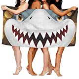 Unisex Scary-Shark-Clipart-Web-Clipart.PNG Toallas de Playa Toallas de baño para niñas Adolescentes Adultos Toalla de Viaje