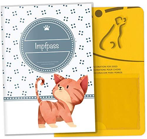 Impfpass Hülle für Tiere Lovely Kittens Tierausweis Schutzhülle schöne Geschenkidee (Tiger, Impfpasshülle ohne Personalisierung)