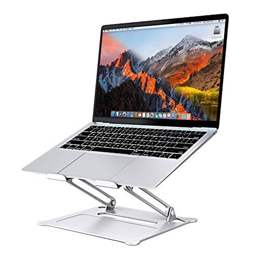 SAVFY verstellbar Laptop Ständer, Aluminium Universal Stander Ergonomisch Tragbar Faltbar Tablet Ständer für MacBook iPad Notebook Sony, Dell, Lenovo bis zu 17 Zoll, Buch