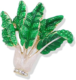 Brooch Exquisite Enamel Paint Cabbage Brooch with Austria Crystal Classic Jewelry For Women