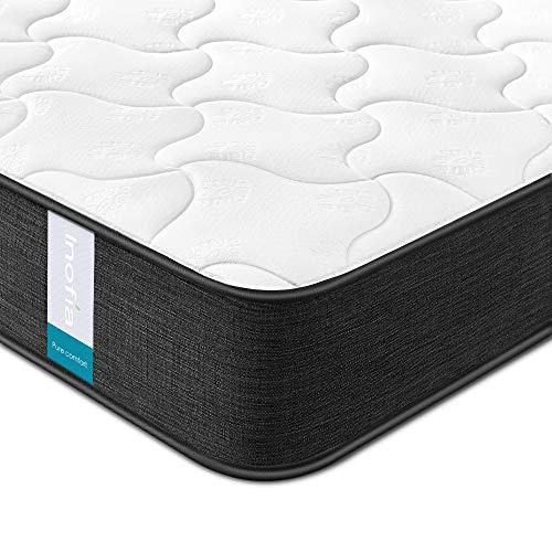 Inofia マットレス ダブル 高反発マットレス 極厚22CM ベッドマットレス ポケットコイル 体圧分散 通気性 圧縮梱包 並行配列 高密度ウレタン 底付き感無し 防臭 持ち運び便利