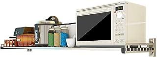 Grille de cuisine - grille de four à micro-ondes mural, grille de four en acier inoxydable, support de rangement mural, va...