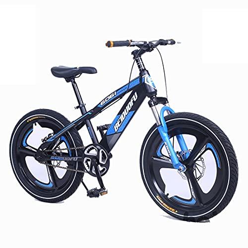 SJSF Y Mountain Bike BMX per Bambini, Bicicletta da 16'18' 20', Bicicletta da Bicicletta con Forcella Anteriore Ammortizzante, Freni A Doppio Disco, Ultraleggera per Ragazzi E Ragazze,16'