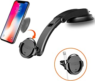 Dashboard Car Mount Phone Holder for Socket Users, Air Vent Car Phone Mount for Collapsible Grip Compatible with iPhone11 Pro Max XR Xs X 8 7 Plus Galaxy Note10 9 S10