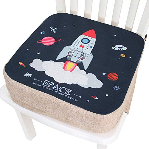 Best Prices! Baby Increased Pad Booster Seat Cushion, Adjustable Removable Kids Dining Chair Baby Highchair Seat Pad,Three Height Adjustable Children Dining Chair Cushion